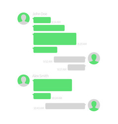 chat app template short message service vector image