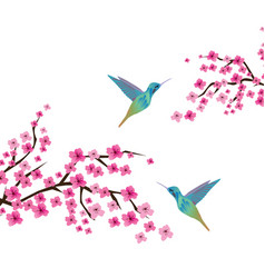 Cherry blossom branches vector