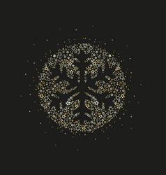 christmas snowflake decoration vector image