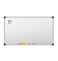 clean marker board empty white presentation vector image