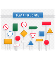 collection of blank road signs vector image