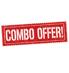 combo offer sign or stamp vector image