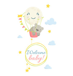 cute flat hand drawn vector image