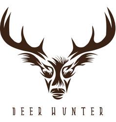 Deer head design templatehunting vector
