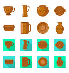 Design pottery and ware sign set of vector