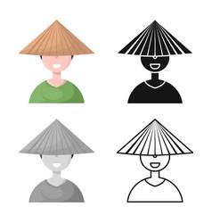 Design vietnamese and portrait sign vector
