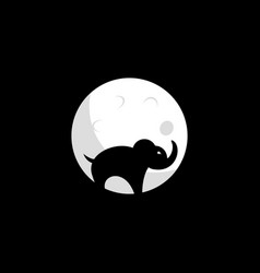 elephant and moon design vector image