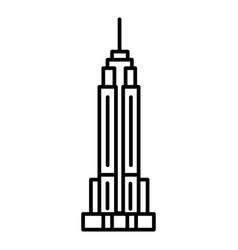 empire state building line icon sign vector image
