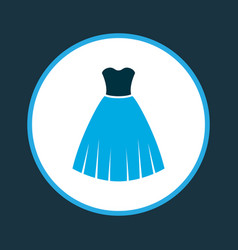 Evening gown icon colored symbol premium quality vector
