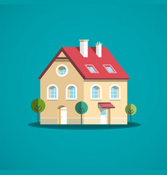 family house icon building symbol vector image