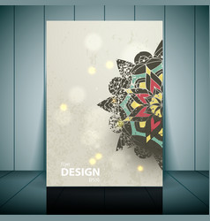 Fashion brochure flyer magazine cover vector image