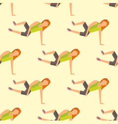 fitness sport parkour people seamless pattern vector image
