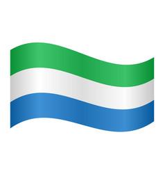 flag of sierra leone waving on white background vector image