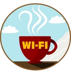 Free Wi-Fi zone icon vector image