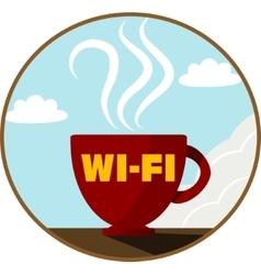 Free Wi-Fi zone icon vector