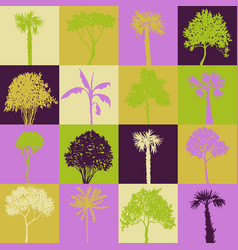 geometric seamless pattern with trees vector image