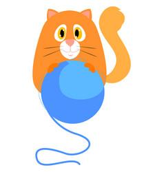 ginger cat on white background vector image