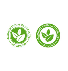 Glutamate no added food package icon contain vector
