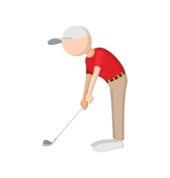 Golfer cartoon icon vector