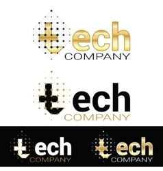 graphic geometric tech logofor your company vector image