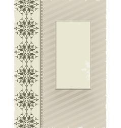 Gray ornamental background vector