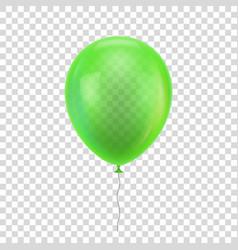 green realistic balloon vector image