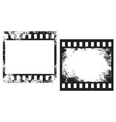 Grunge film frames vector