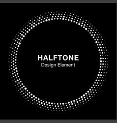 halftone circle frame with abstract random dots vector image