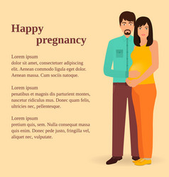 happy family concept couple of man and pregnant vector image