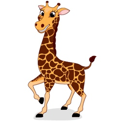 Happy Giraffe vector