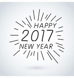 Happy new year 2017 calendar cover typographic vector