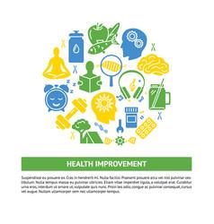 health improvement round concept banner vector image