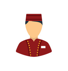 Hotel boy icon vector