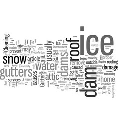 How to safely remove ice dams from your home vector