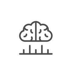 human analytics line icon vector image