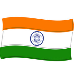 india flag graphic vector image