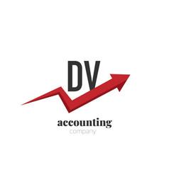initial letter dv creative finance - money vector image
