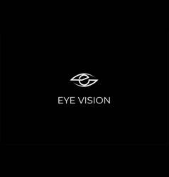 initial letter e for eye vision logo design vector image