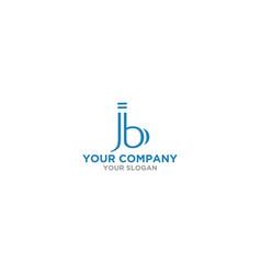 J and b logo design template vector