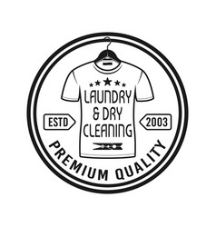 laundry and dry cleaning service emblem vector image