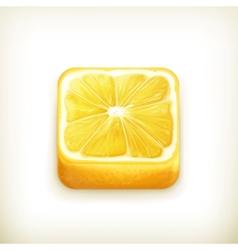 Lemon app icon vector