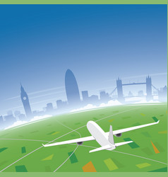 London skyline flight destination vector