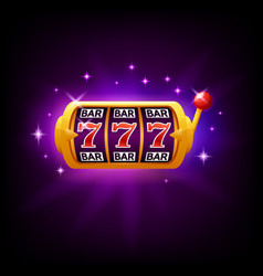 lucky seven on slot machine icon for online vector image