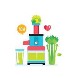 making fresh healthy organic smoothie juice vector image