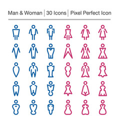 man and woman line icon vector image