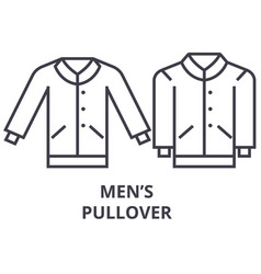 men pullover line icon outline sign linear vector image