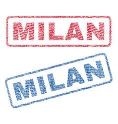 Milan textile stamps vector