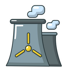 modern nuclear power plant icon cartoon style vector image