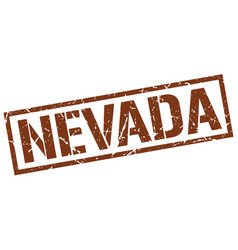Nevada brown square stamp vector