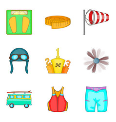 Physical lifestyle icons set cartoon style vector